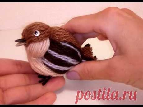 Птичка своими руками из ниток. Bird hand made