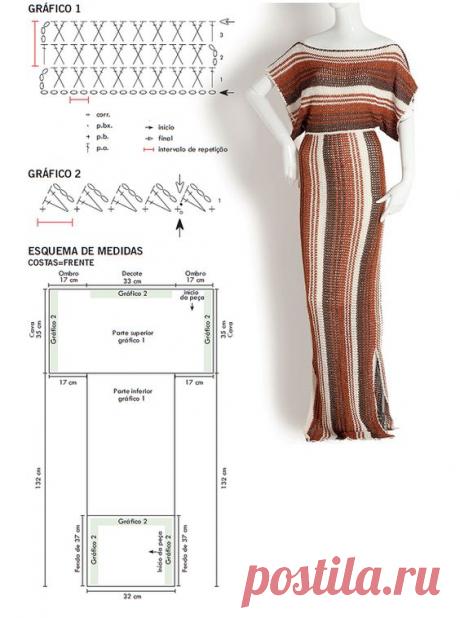 Вяжем крючком платье от дизайнера Diovana Dias | ВЯЗАНИЕ СПИЦАМИ И КРЮЧКОМ  | Яндекс Дзен