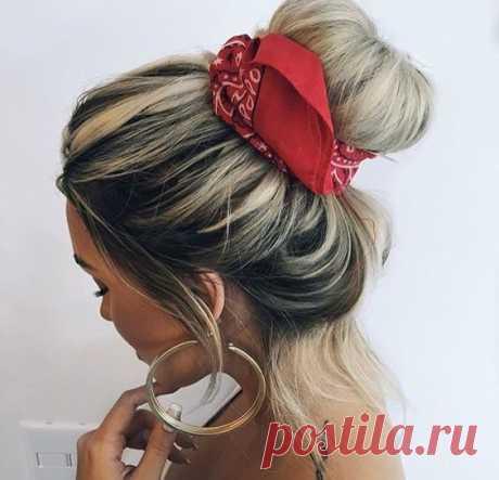 Прически с платком: 10 модных укладок на лето - tochka.net