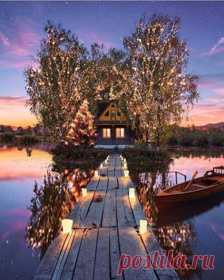 Домик на озере 😍🤩