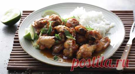 Крылышки в азиатской карамели , пошаговый рецепт с фото