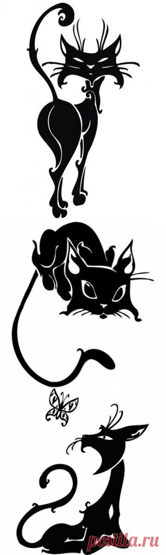 Трафареты Кошки на стену.