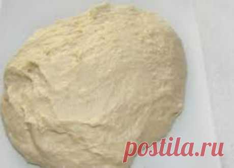 Pizza dough without yeast as in a pizzeria