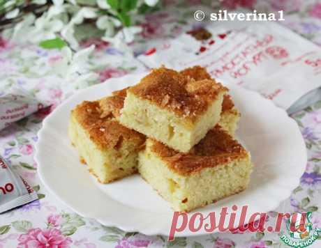 Пирог с яблоками и пудингом – кулинарный рецепт