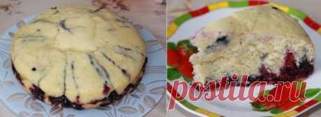 Быстрый и вкусный пирог в мультиварке на кефире. Завтра сделаю снова    Вкусно, без заморочек!          Ингредиенты: яйца — 3 штукикефир — 1 стаканмука — 1 стакансахар — 1 стакансода —0,5 ч.л.горсть ягод  Приготовление:  Смешать все ингредиенты для теста, кроме ягод…