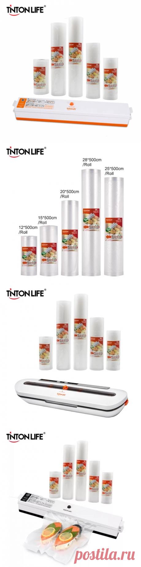Вакуумный упаковщик пищевых продуктов TINTON LIFE, 5 рулонов пакетов, 12 Х500 см, 15 Х500 см, 20 Х500 см, 25 Х500 см, 28 Х500 см | vacuum food sealer|food sealerfood vacuum sealer