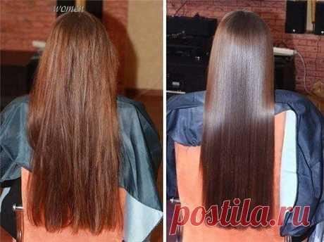 Маска для придания волосам шелковистости и блеска.