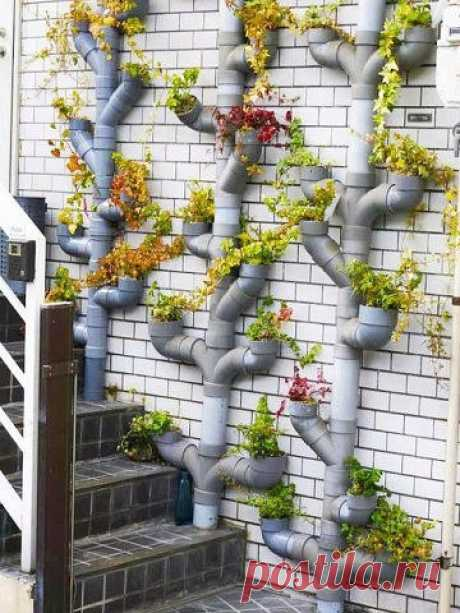 What it is possible to make of plastic pipes - new ideas