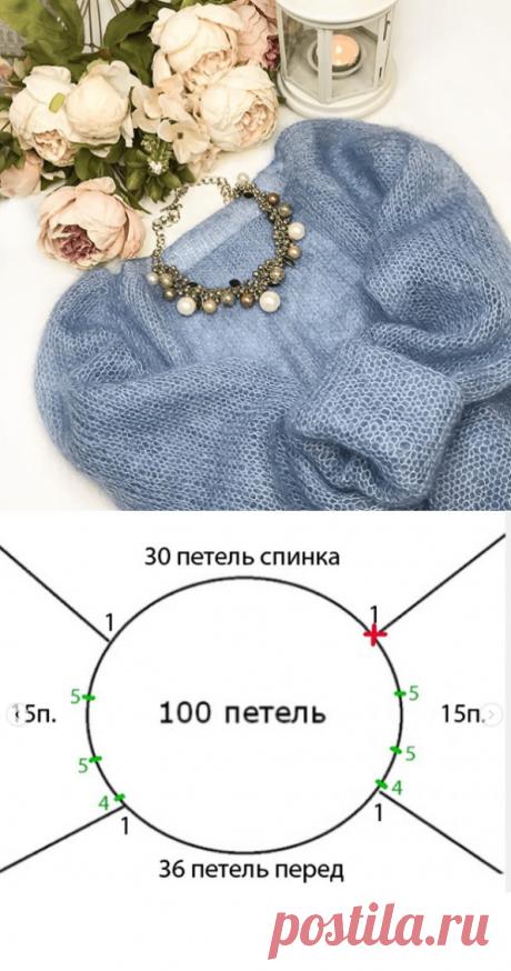 Свитер паутинка из кид мохера спицами. Схемы вязания свитеров спицами из мохера с описанием