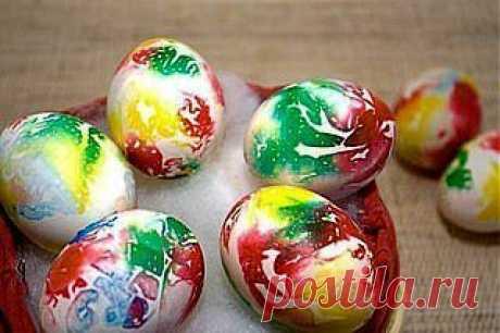 Декоративное окрашивание яиц | Хитрости Жизни