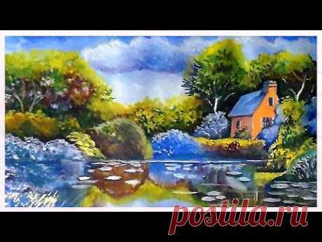 Как нарисовать летний пейзаж гуашью Живопись.
