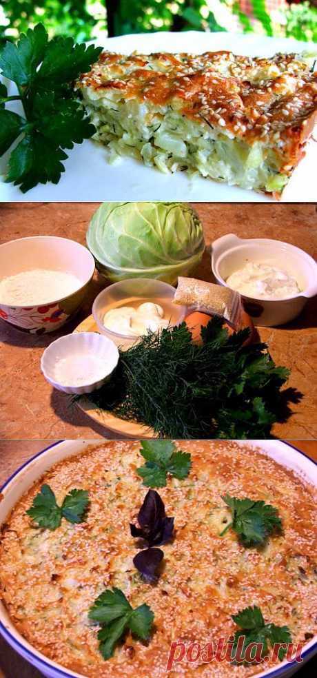 Пирог с капустой жидкое тесто | Бабушкины плюшки