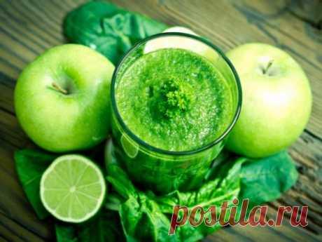Зеленый смузи для похудения из яблока и лайма — vkusno.co