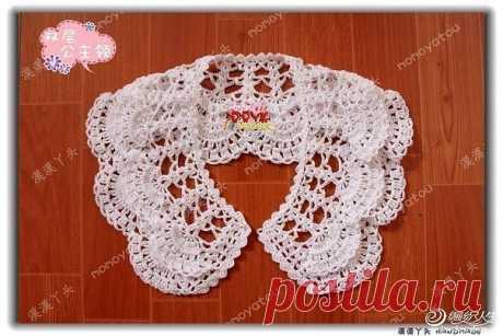 We knit an openwork collar, MK