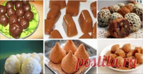 ТОП-6 рецептов наивкуснейших домашних конфет Получается намного вкуснее магазинных сладостей! Сладкоежки, обязательно сохраняйте рецепты!