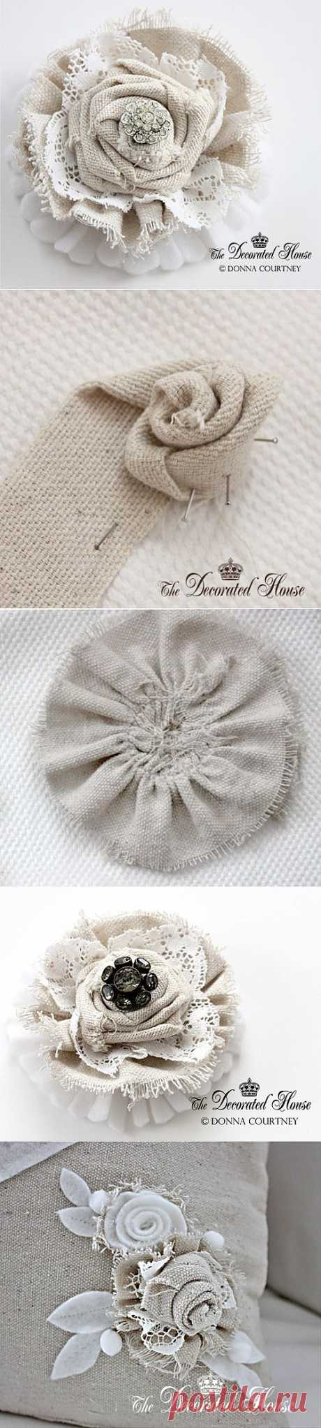 Винтажные цветы для украшения — мастер класс | My Milady