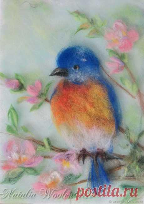 Изумительные картины шерстью: птицы — Сделай сам, идеи для творчества - DIY Ideas