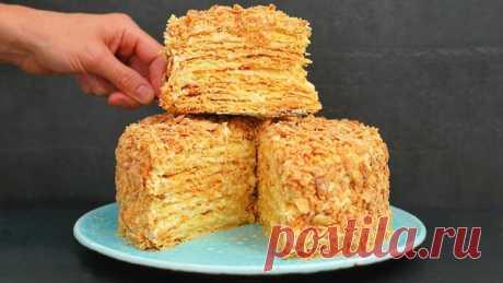 Торт наполеон - очень удачный рецепт – пошаговый рецепт с фотографиями
