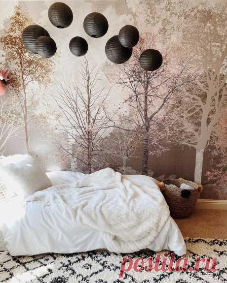 Красивая идея для оформления спальни. Нравится?   Хотите поделиться своими результатами ремонта? Присоединяйтесь к нашему проекту!