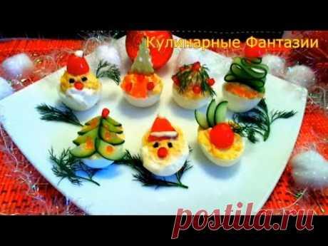 7 Новогодних Идей Красиво Украсить Яйца!