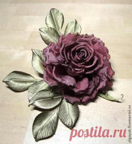 Роза из ткани. Простая, но эффектная. МК Ольги Якимовой.