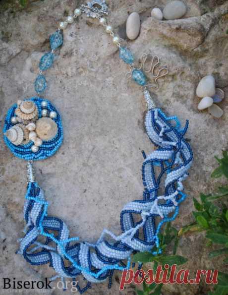 Песня моря Колье, бусы, ожерелья – Бисерок