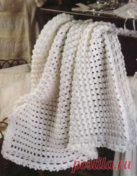 вязание детского покрывала крючком