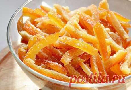 Не спешите выкинуть апельсиновые корки. Из них можно сделать вкусное угощение! | Хитрости жизни