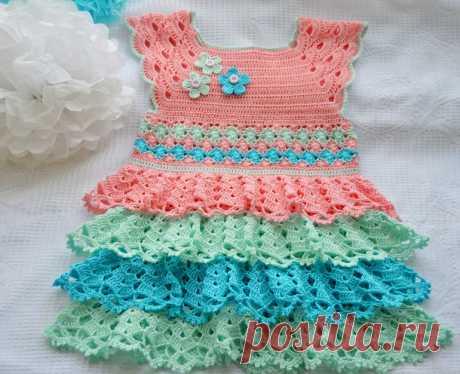 Платье для малышки!!!!!!!!!! - запись пользователя Юлия (stekolnikovaula) в сообществе Рукоделие в категории Вязание крючком (ТОЛЬКО ГОТОВЫЕ РАБОТЫ И СХЕМЫ) - Babyblog.ru