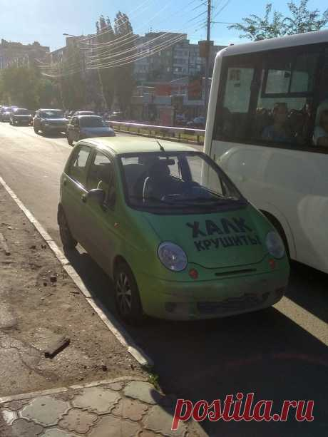 Зелёный мститель на улицах города