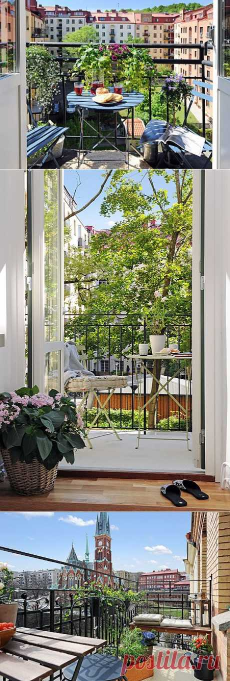 Дизайн интерьера. О, мой балкон, похожий на упоительный сон! | Наш уютный дом