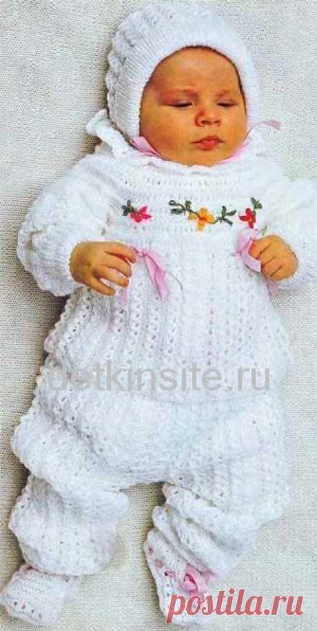 Вязание для новорожденного ребенка.Комплект из 4х вещей.(ИЗ ИНЕТА) / Вязание спицами / Вязание спицами для детей
