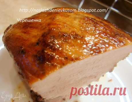 Ароматная свинина, запеченная в фольге. Ингредиенты: горчица, перец горошком смесь, имбирь молотый | Официальный сайт кулинарных рецептов Юлии Высоцкой