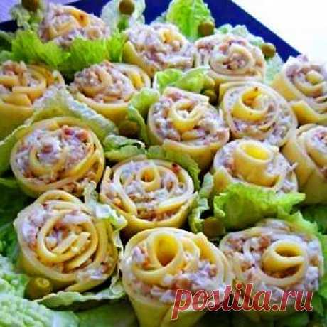 Закуска из сыра «Розы для милых дам»