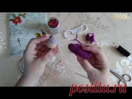 Мастер класс сборка бабки для пальчикового театра Курочка ряба/Вязаные лялюшки - YouTube