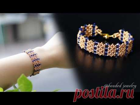 DIY beading bracelet with swarovski crystal bicones beads and seed beads