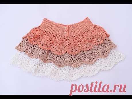Crochet ruffle skirt