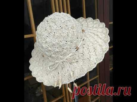 [Crochet] Mũ Sò Sợi Cối (P2) - How to croched summer hat