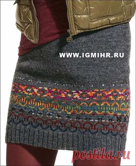 Мини-юбка (вязание спицами)