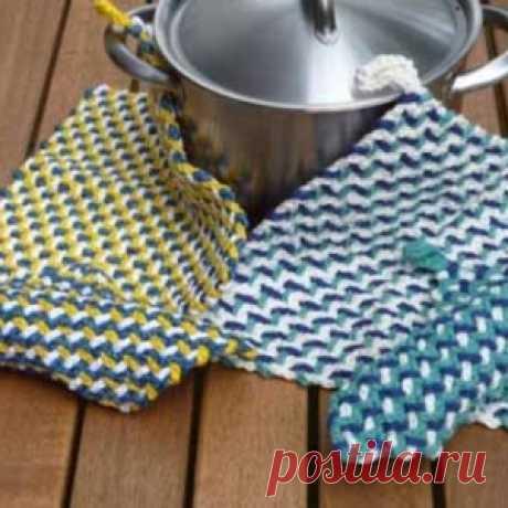 Интересный прием для вязания ковриков и не только