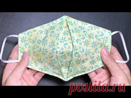 DIY дышащая плиссированная маска для дома   Как сделать легкий урок по пошиву и пошиву 😷