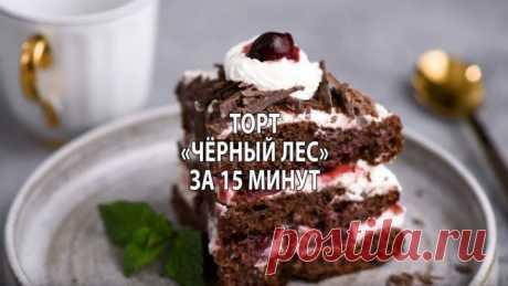 Торт «Черный лес» за 15 минут