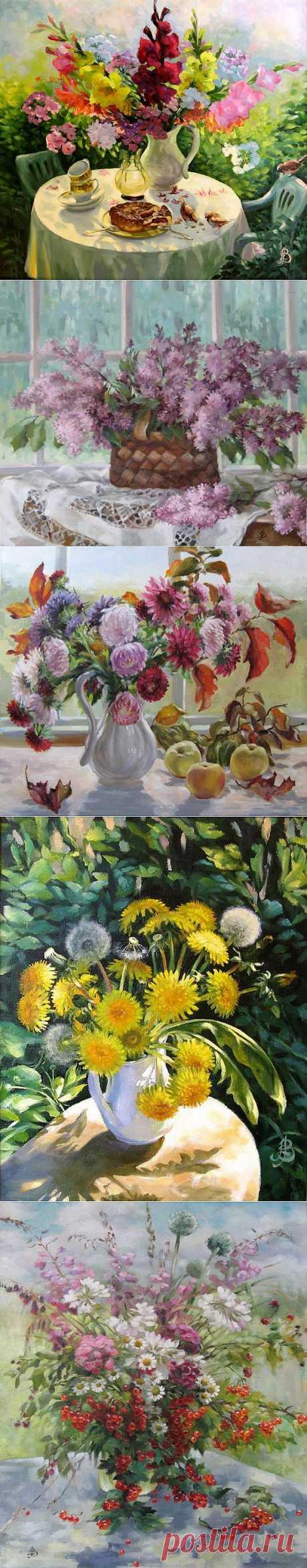 Цветочная живопись в творчестве Зинаиды Ведешиной.