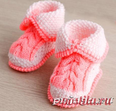 Вязание пинеток малышам
