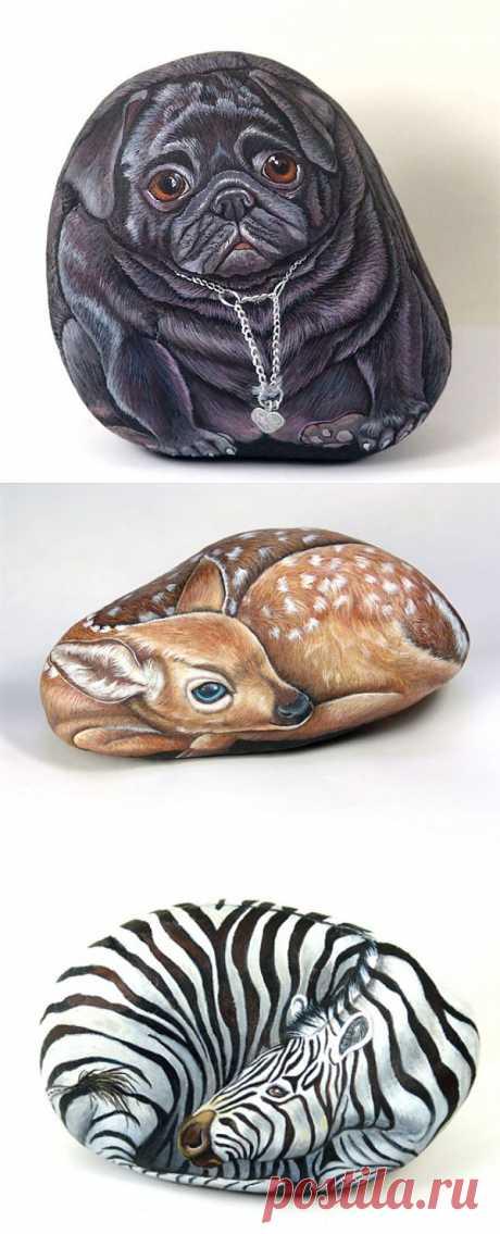 Рисунки на камнях.
