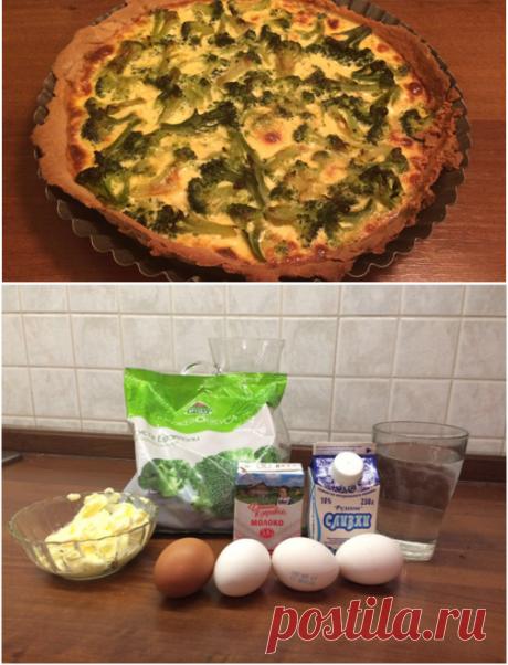 Киш с брокколи-подробный фото рецепт.