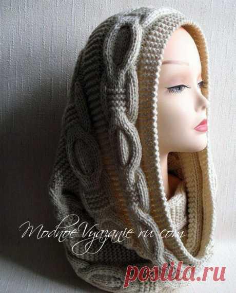 Scarf snud relief braids - Modnoe Vyazanie ru.com
