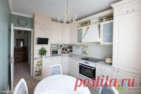 Кухня с площадью 8 кв. м в доме серии П-44 (с вентиляционным коробом)