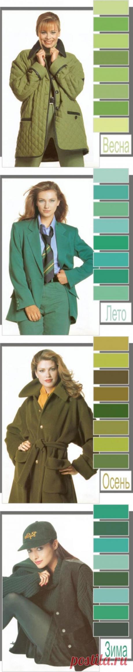 Выбираем свой оттенок зеленого в одежде в зависимости от цветотипа внешности