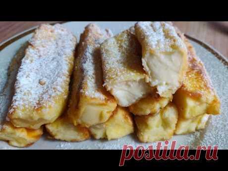 Испанский десерт жареное молоко или сметана